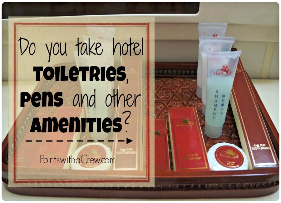 Do you take hotel toiletries, shampoo bottles, pens or other amenities on display? Here are ideas of what do you do with hotel amenities