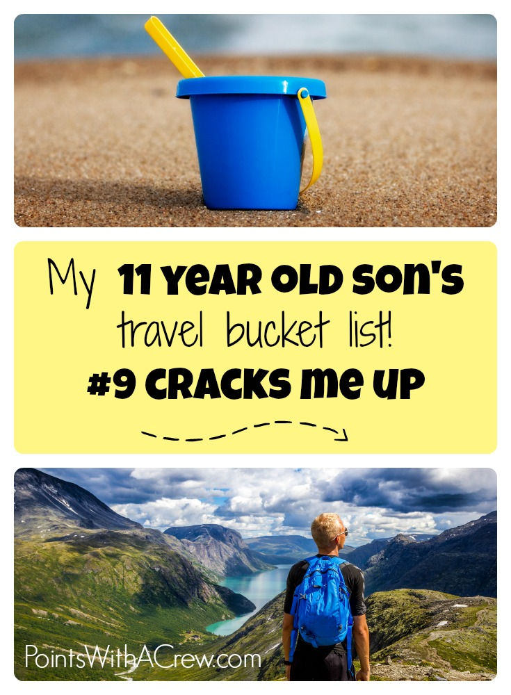 Here is my 11 year old kids bucket list - has some great ideas for teens, friends and summer travel