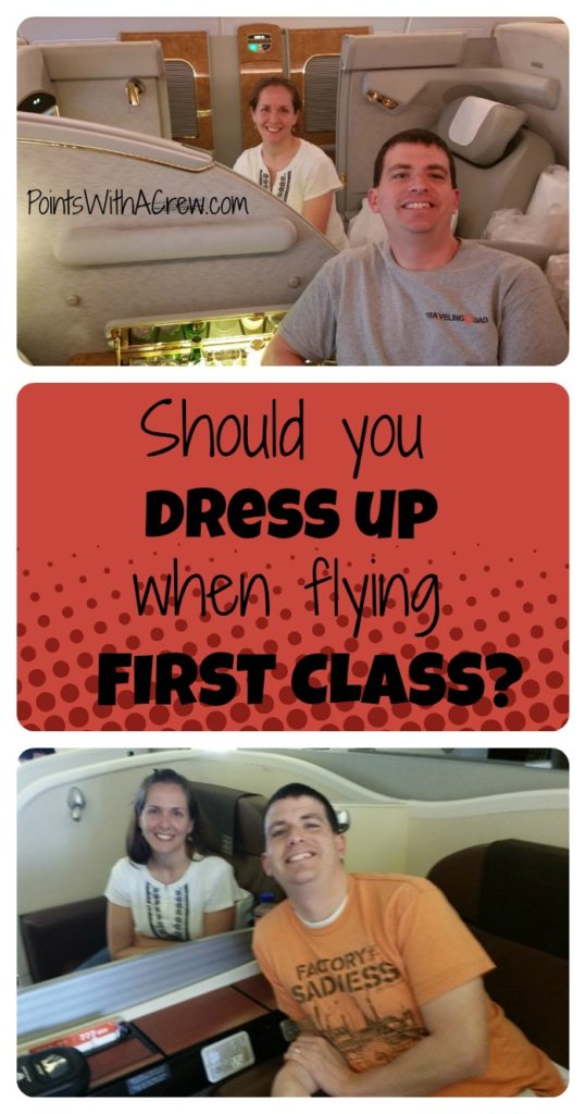 Taking a first class flight?  Is there a dress code or particular outfit when you travel in a first class cabin?