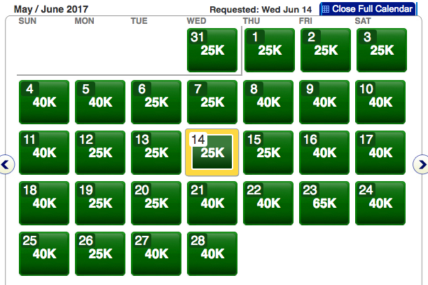 Not a single saver-level award available on American Airlines