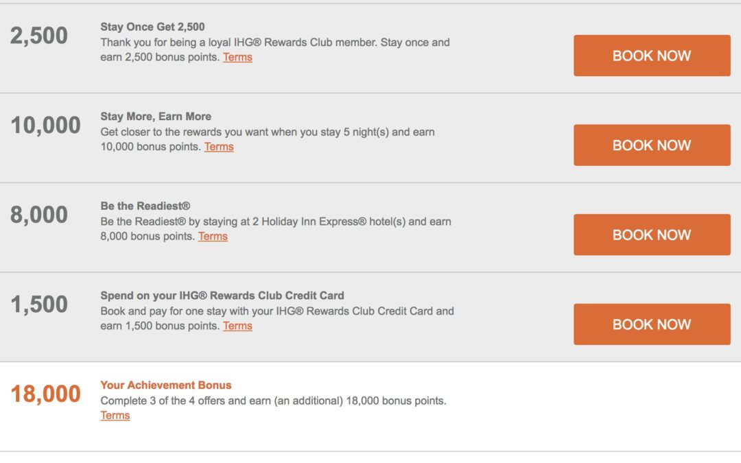 IHG Accelerate Q2 2017 promotion is available – what are your offers?