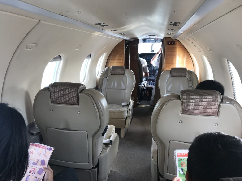 boutique air flight interior