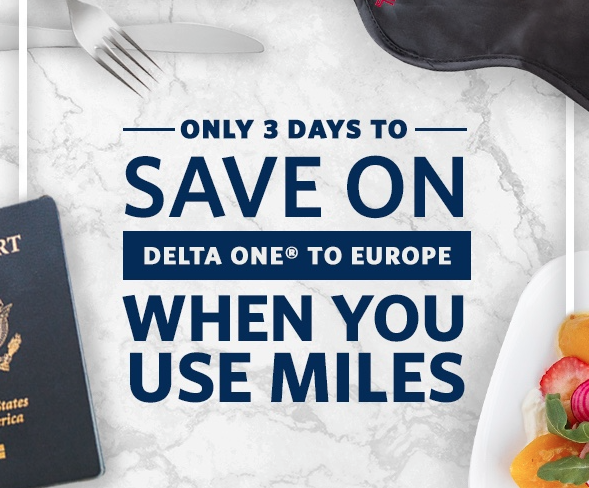 2 days only – Delta Skymiles flash sale for Delta One starting at 98,000 miles roundtrip