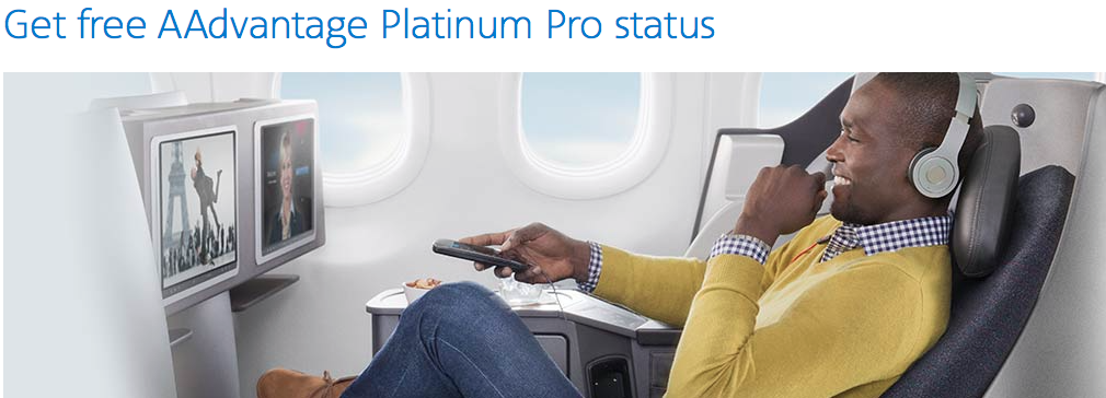 [Targeted] Free American Airlines Platinum Pro status! - Points with a Crew