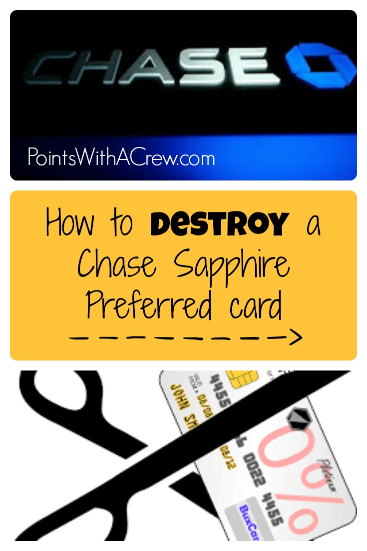 How To Destroy A Chase Sapphire Preferred Card Points