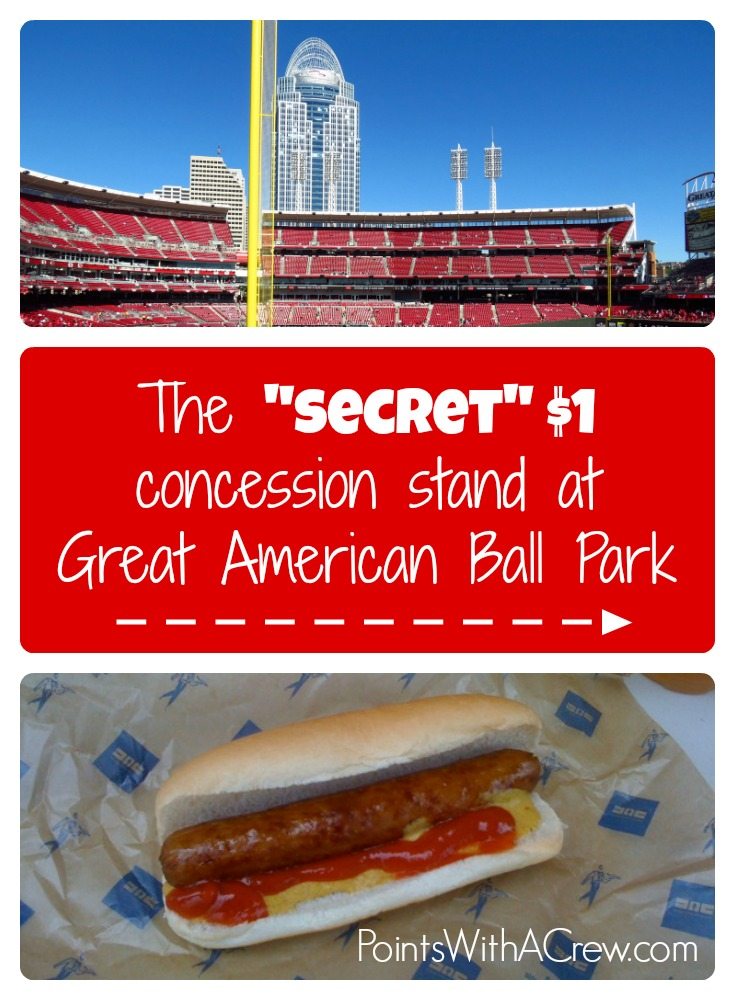 If you're heading to Great American Ballpark in Ohio to watch the MLB Cincinnati Reds, don't forget to visit the secret $1 concession stand