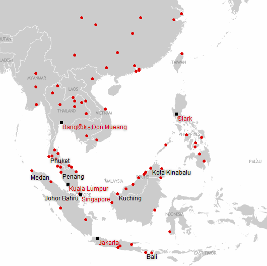 airasia-asean-route-map