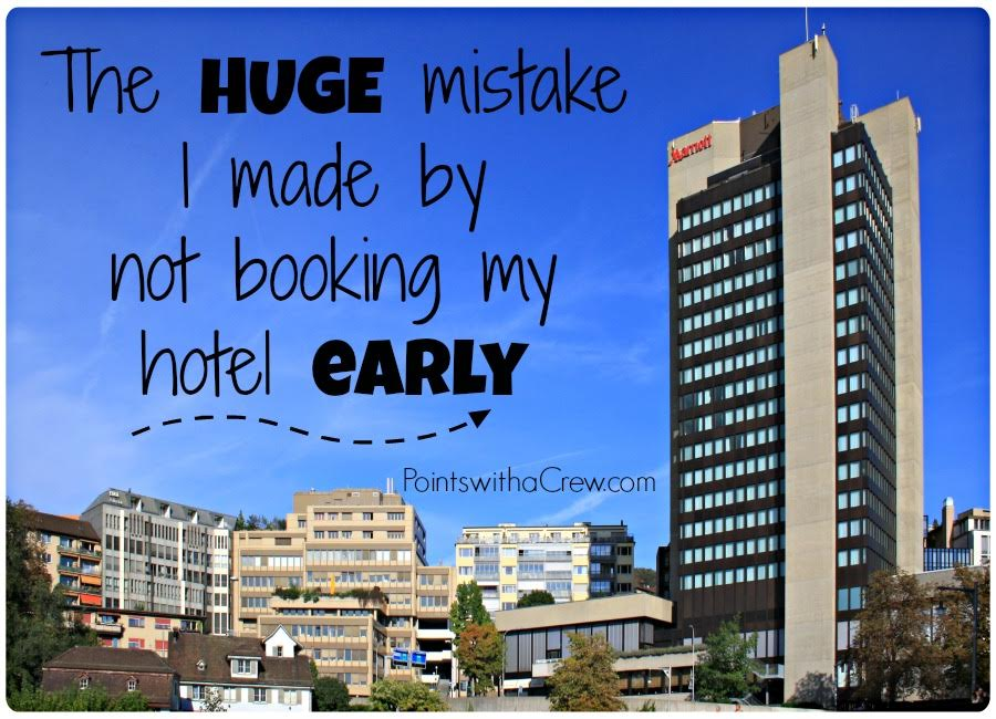 One of my biggest travel mistakes!  I should have booked my hotel early but instead I ...