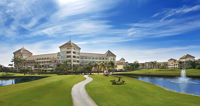 The Hilton Pyramids Golf Resort is a Category 1 redemption at only 5,000 points / night!