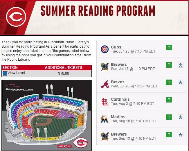 (Multiple?) Free Cincinnati Reds tickets