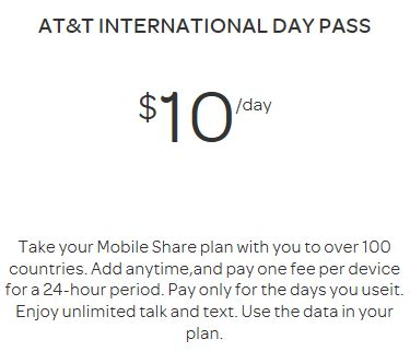 ATT International Day Pass