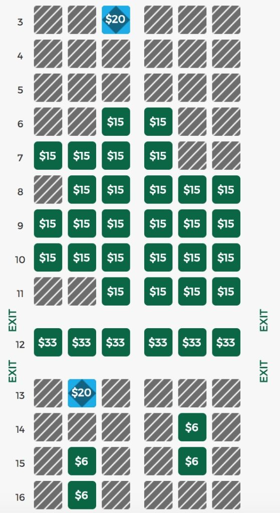 I Had A 9 30 M Flight On Frontier Here S How My Seat Map Looked At The Day Before T 24 Hours