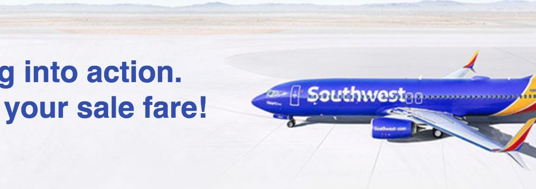 Southwest fare sale from $59 or 3000 points