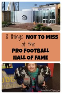 Any NFL or sports fan will not want to miss a journey to the Pro Football Hall of Fame in Canton Ohio. Here are 8 things not to ...