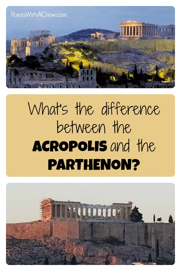 If you're traveling to Athens Greece and interested in history, architecture or ruins you may wonder what's the difference between the Greek Acropolis and Parthenon museum #acropolis #parthenon #athens #greece