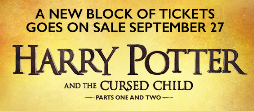 New Block of Seats: Harry Potter & The Cursed Child (Parts 1 & 2) on Broadway