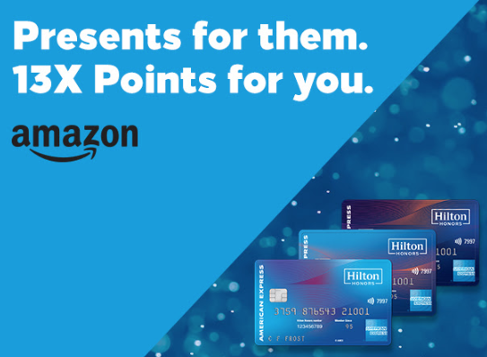 Earn 13X Points at Amazon with your Amex Hilton Card (invite-only)