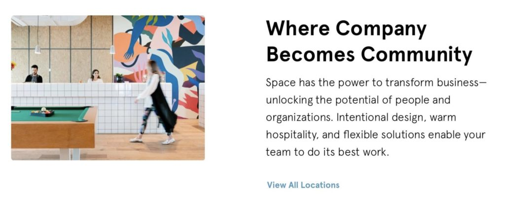 The card that gives free membership to WeWork for a year
