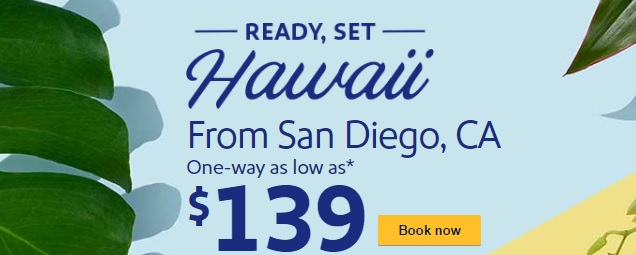 Southwest Two Sales At Once: Hawaii ($139 One-Way) & Mexico/Caribbean Sale!